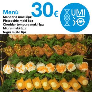 Menu Combo - 30 euro - Ristorante UMI Sushi Siracusa