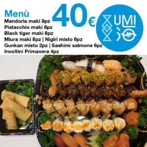 Menu Combo - 40 euro - Ristorante UMI Sushi Siracusa