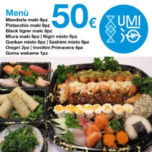 Menu Combo - 50 euro - Ristorante UMI Sushi Siracusa