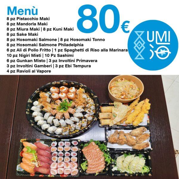 Menu di 110 pezzi di sushi